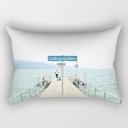 Embarcadère du Léman Rectangular Pillow