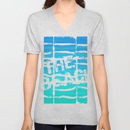 The Beach Aqua Unisex V-Neck