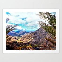 Gran Canaria, Canary Islands. Art Print