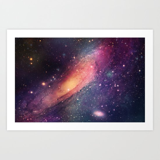 Galaxy colorful Art Print
