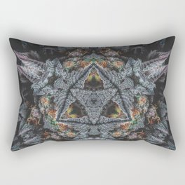Purple Black Lime Rectangular Pillow