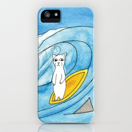 Meow The Cat's Surfing Adventure iPhone Case