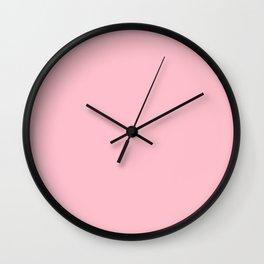 Bubble Gum Pink Wall Clock