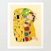 muppets Art Prints featuring Klimt muppets by tuditees