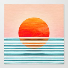 Minimalist Sunset III / Abstract Landscape Canvas Print