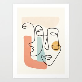 Abstract Faces 31 Art Print