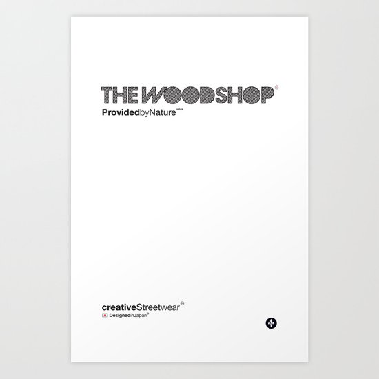 The Woodshop Art Print