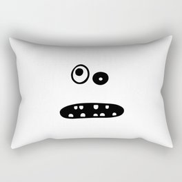 Crazy cute face illustration Rectangular Pillow