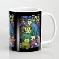 aliens Mugs featuring Crowded Aliens by Billy Allison