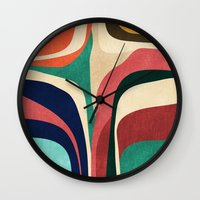 map Wall Clocks featuring Impossible contour map by Picomodi