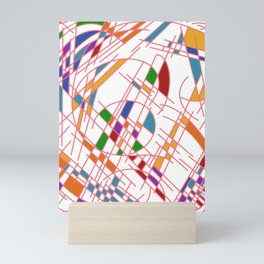 Modern Art Block Color Seeking Cubism Mini Art Print
