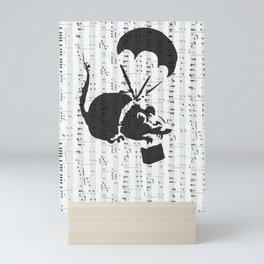 Parachute Rat-Banksy Art Graffiti Mini Art Print