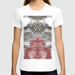 Mirrored abstract image T-shirt