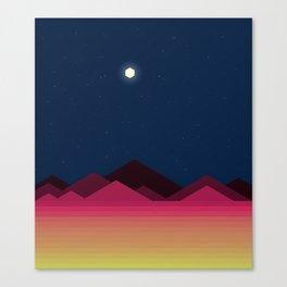 Desert Night (Voxel) Canvas Print