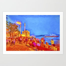 Istanbul Pop Art Art Print