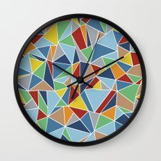 Abstraction Outline Wall Clock