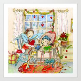 CREATIVE CHRISTMAS 2014 Art Print