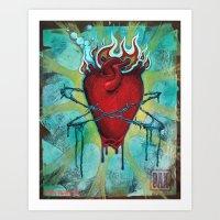 Scared Heart Art Print