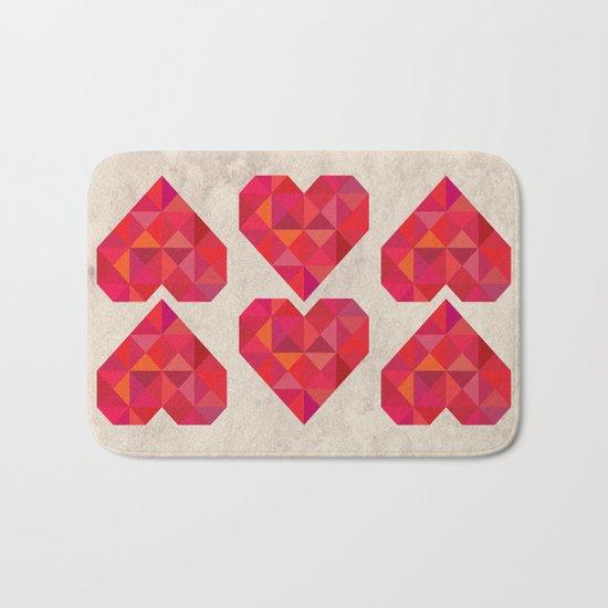 Heart geometry Bath Mat