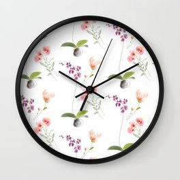 3flowers Wall Clock