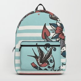 Anchor with birds - Keep my feet on the ground Backpack