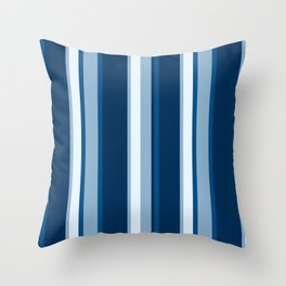 Classic Blue Stripe Throw Pillow