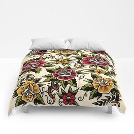 Flower tattoo Comforters