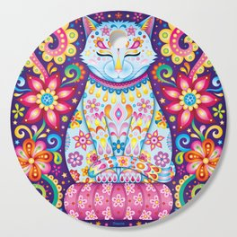 Zen Cat Cutting Board