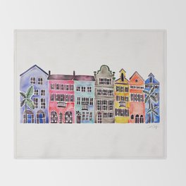 Rainbow Row – Charleston Throw Blanket