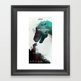 Inspired movie poster. The Lost World: Jurassic Park (1997) Framed Art Print