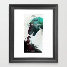 Inspired movie poster. The Lost World: Jurassic Park (1997) Framed Art Print