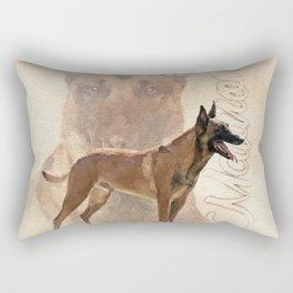 Malinois  - Belgian shepherd - Mechelaar Rectangular Pillow