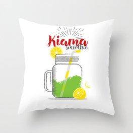 Kiama: Summer, sun, sea & smoothies Throw Pillow