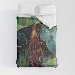 """Light Trio"" Original Painting by Flora Bowley Comforters"