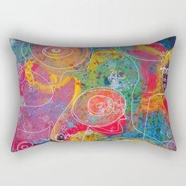 Neo Expressionism Street Art Creatures in the garden Rectangular Pillow