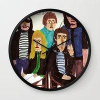 velvet underground Wall Clocks featuring The Velvet Underground by Angela Dalinger