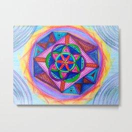 Geometry Mandala Metal Print