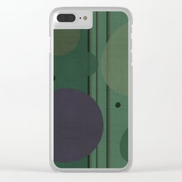 """""""The Girl and the Moon (Pattern 02)"""" Clear iPhone Case"""