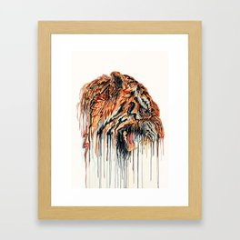 Dripping Tiger Framed Art Print