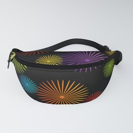 Colorful Christmas snowflakes pattern- holiday season gifts- Happy new year gifts Fanny Pack