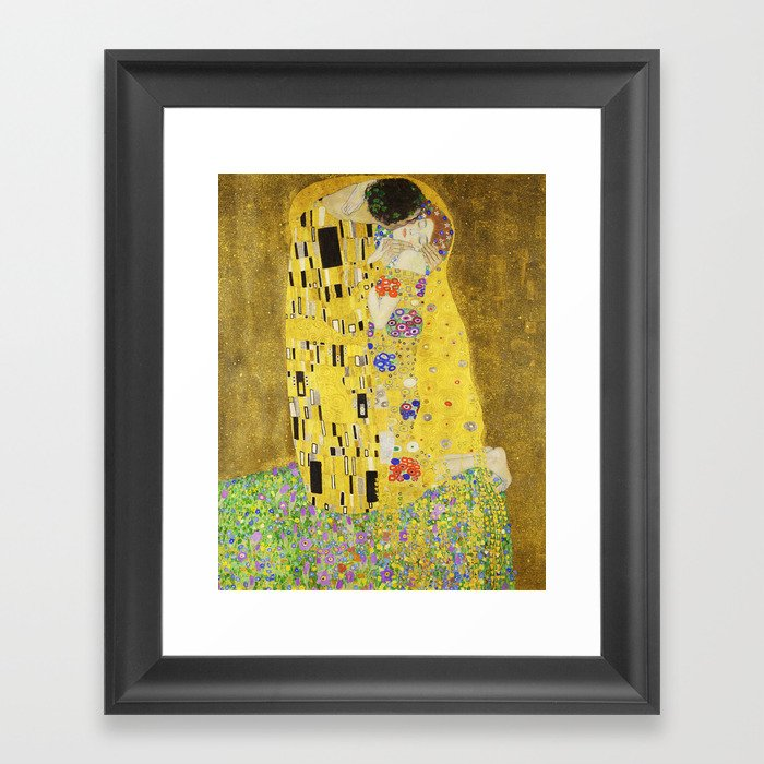 The Kiss - Gustav Klimt, 1907 Framed Art Print