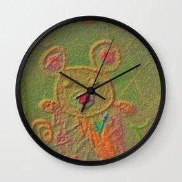 Magic forest bear Wall Clock