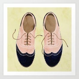 girl shoes stay at home Art Print
