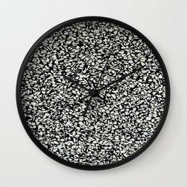 Inverted Terrazzo Texture Print Wall Clock