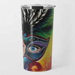 Psychedelic Mardi Gras Travel Mug