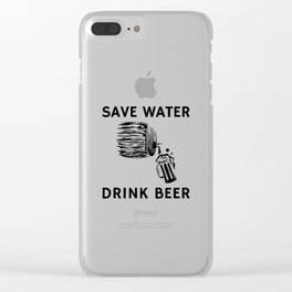 Barrel Beer Clear iPhone Case