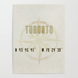 Toronto - Vintage Map and Location Poster
