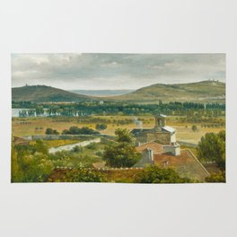 Théodore Rousseau Panoramic View of the Ile-de-France Rug