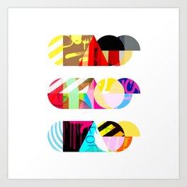Chaos, Chaos, Chaos [collage] Art Print