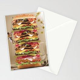Hamburger Tower Stationery Cards